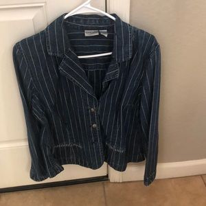 casual jacket brand chico's size 1